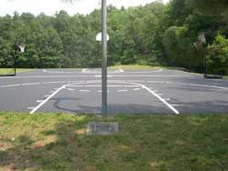 Basketball court striping by Superior Line Striping