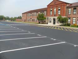 Parking lot striping and numbering by Superior Line Striping