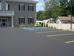 Commercial parking lot striping by Superior Line Striping